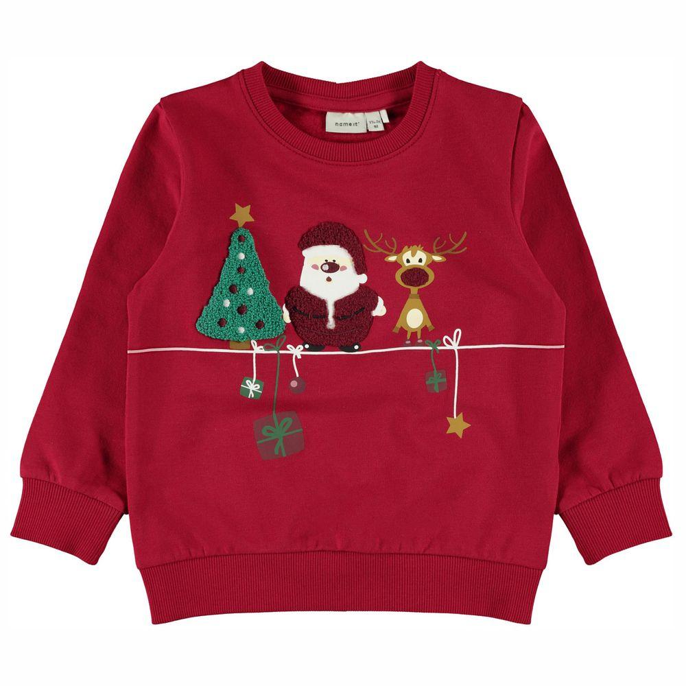 Джемпер Name it Happy Christmas, арт. 203.13185695.JRED, цвет Красный