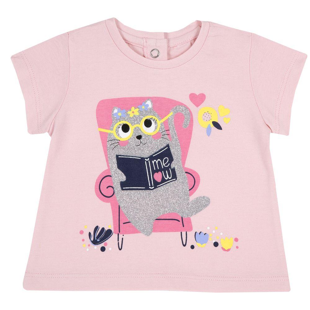 Футболка Chicco Smart cat, арт. 090.06940.018, цвет Розовый