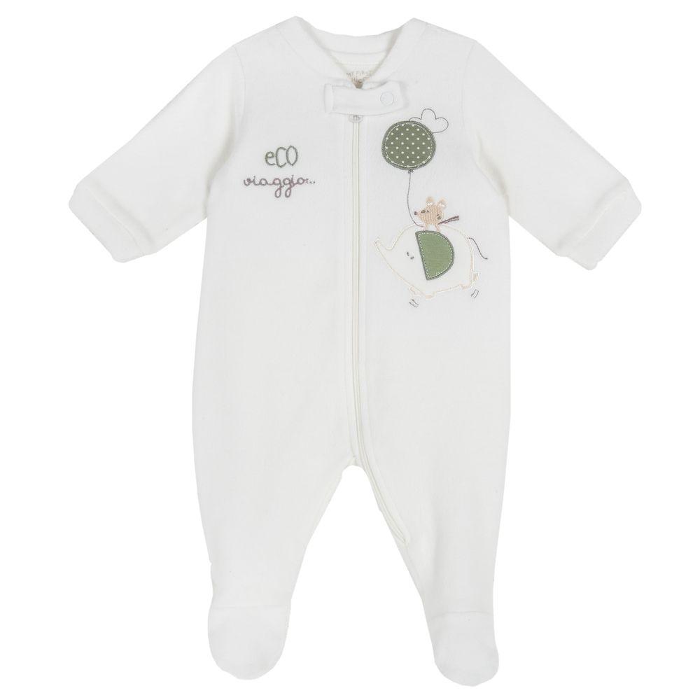 Комбинезон флисовый Chicco Baby elephant , арт. 090.02034.030, цвет Белый