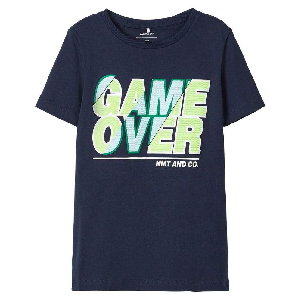 Футболка Name it Stop game, арт. 201.13172676.DSAP, цвет Синий
