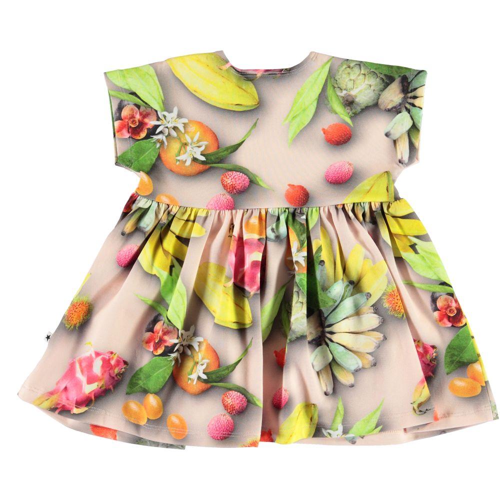 Платье Molo Channi Tutti Frutti, арт. 4S20E106.6046, цвет Зеленый с желтым