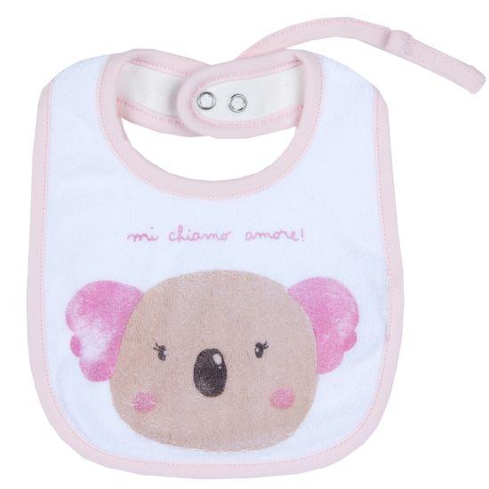 Слюнявчик Chicco Amigos bear, арт. 090.32799.011, цвет Розовый
