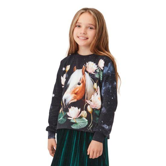 Реглан Molo Reniza Water Lily Horse, арт. 2W21A415.7498, цвет Черный