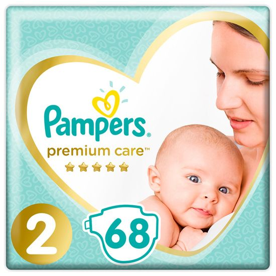 Подгузники Pampers Premium Care, размер 2, 4-8 кг, 68 шт, арт. 8001841104874