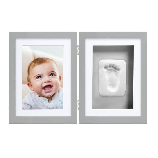 Рамка двойная для фото и глиняного слепка (серая), арт. P63005, цвет Серый