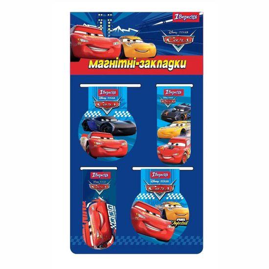 """Закладки магнитные 1Вересня """"Cars"""", 4 шт, арт. 707391"""