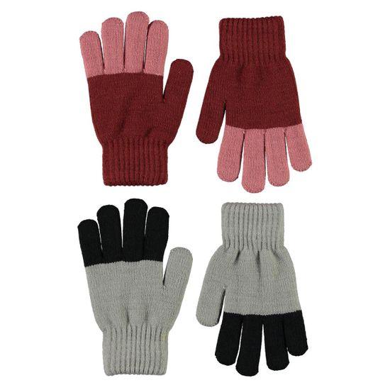 Перчатки (2 пары) Molo Keen Rosewood, арт. 7W21S203.8338, цвет Бордовый