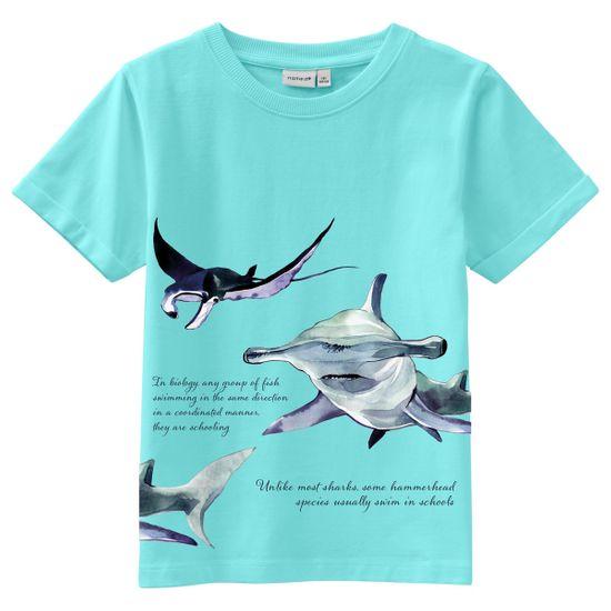 Футболка Name it Sea blue, арт. 211.13189431.BTIN, цвет Голубой