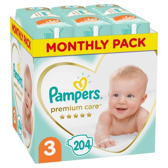 Подгузники Pampers Premium Care, размер 3, 6-10 кг, 204 шт, арт. 8001090379498