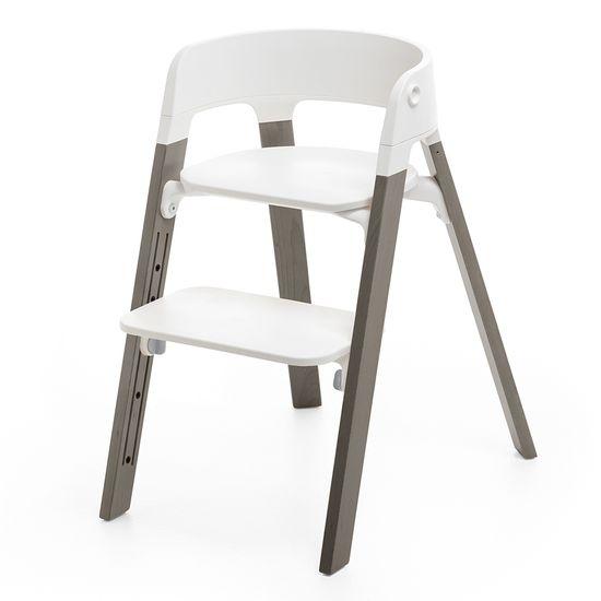 Стульчик Stokke Steps White, арт. 460001, цвет Hazy Grey