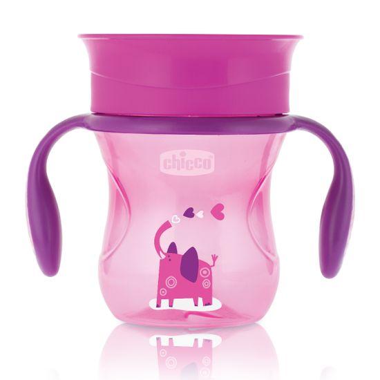 """Чашка Chicco """"Perfect Cup"""", 200мл, 12 м+, арт. 06951, цвет Розовый"""