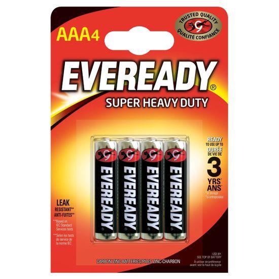Батарейки Energizer Eveready AAA Super Heavy Duty, 4 шт., арт. 6352531