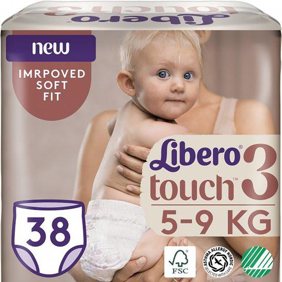 Подгузники-трусики Libero Touch Pants, размер 3, 5-9 кг, 38 шт, арт. 8382