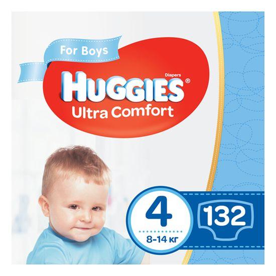 Подгузники Huggies Ultra Comfort для мальчика, размер 4, 8-14 кг, 132 шт, арт. 5029054218112