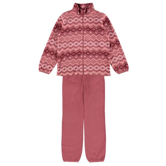 Флисовый костюм Name it Pudding: кардиган и брюки, арт. 213.13191784.DROS, цвет Розовый