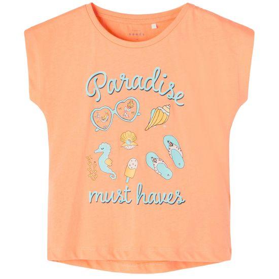 Футболка Name it Paradise orange, арт. 211.13189247.CANT, цвет Оранжевый