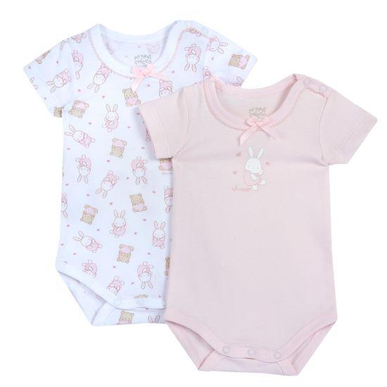 Боди (2 шт) Chicco Pink bunnies, арт. 090.11470.011, цвет Розовый
