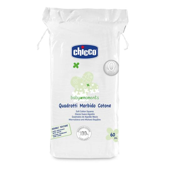 Салфетки-полотенечко хлопковые Chicco, 60 шт., арт. 02654