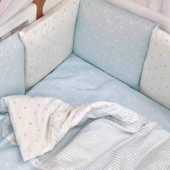 """Комплект постельного белья Piccolino """"Blue stars"""", арт. 111777.01, цвет Голубой"""