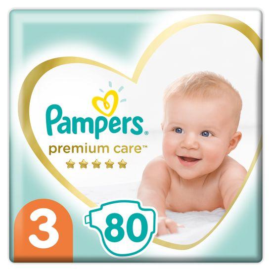 Подгузники Pampers Premium Care, размер 3, 6-10 кг, 80 шт, арт. 4015400507499