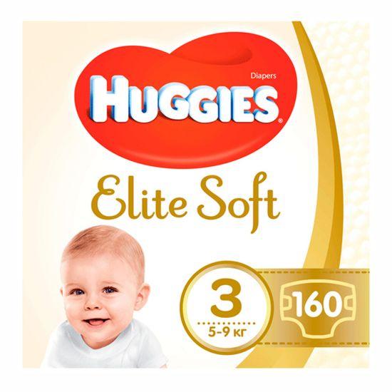 Подгузники Huggies Elite Soft, размер 3, 5-9 кг, 160 шт, арт. 5029054566213