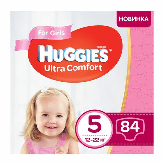 Подгузники Huggies Ultra Comfort для девочки, размер 5, 12-22 кг, 84 шт, арт. 5029053547862