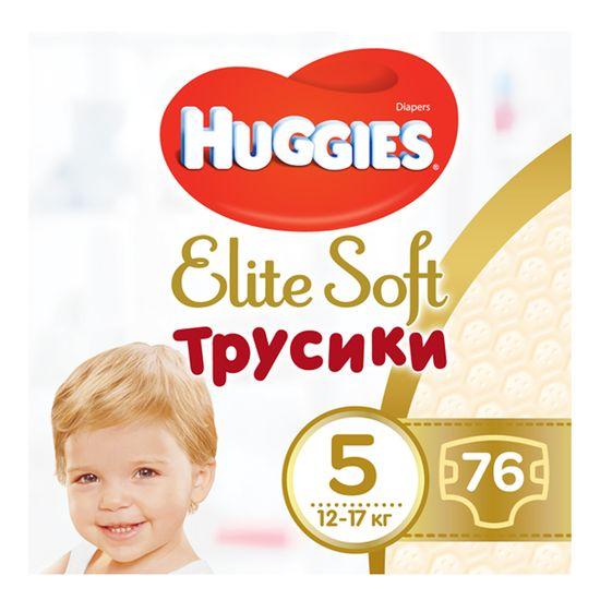 Подгузники-трусики Huggies Elite Soft, размер 5(XL), 12-17 кг, 76 шт, арт. 5029053547114