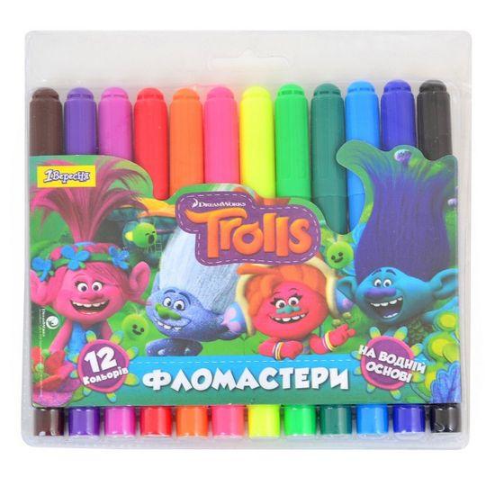 """Фломастеры 1Вересня """"Trolls Dream. Jumbo"""", 12 цв., арт. 650338"""
