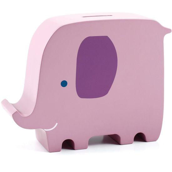 Деревянная копилка Слон, арт. 40003, цвет Розовый