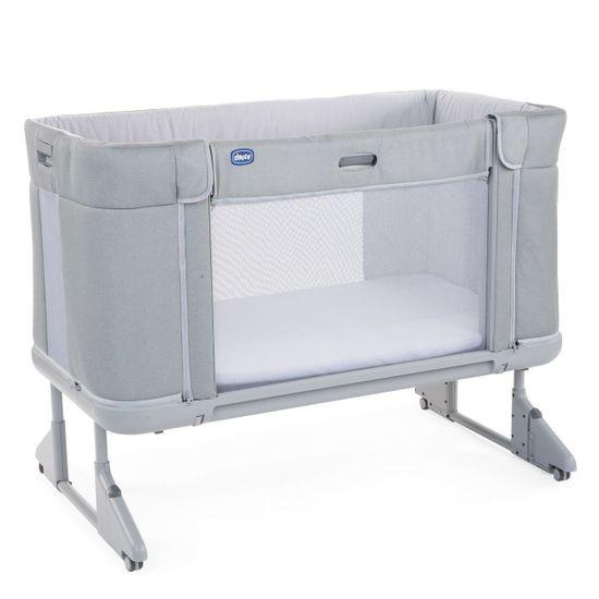 Кроватка 3 в 1  Chicco Next2Me Forever, арт. 79650, цвет Светло-серый