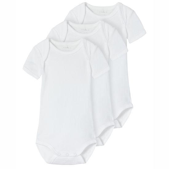 Боди (3 шт) Name it Classic white, арт. 211.13183432.BWHI, цвет Белый