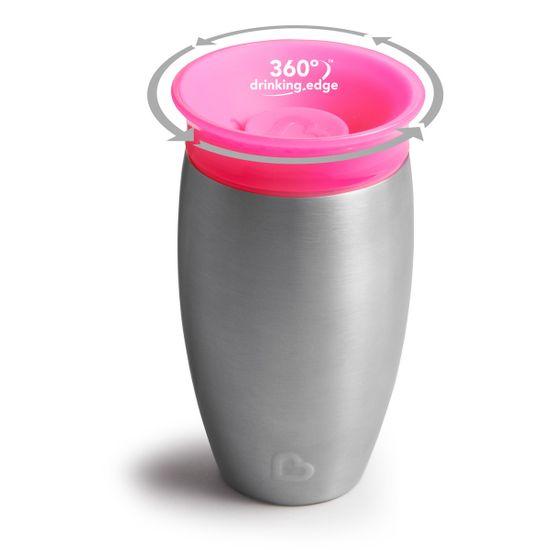 """Чашка непроливная Munchkin """"Miracle 360 Steel"""", 296 мл, арт. 012370, цвет Розовый"""