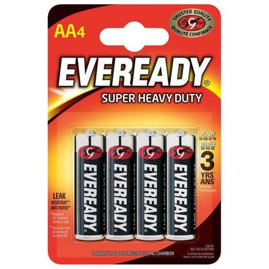 Батарейки Energizer Eveready AA Super Heavy Duty, 4 шт., арт. 6352530