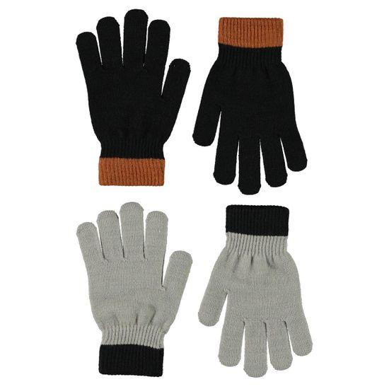 Перчатки (2 пары) Molo Kello Warm Grey Melange, арт. 7W21S205.8340, цвет Синий