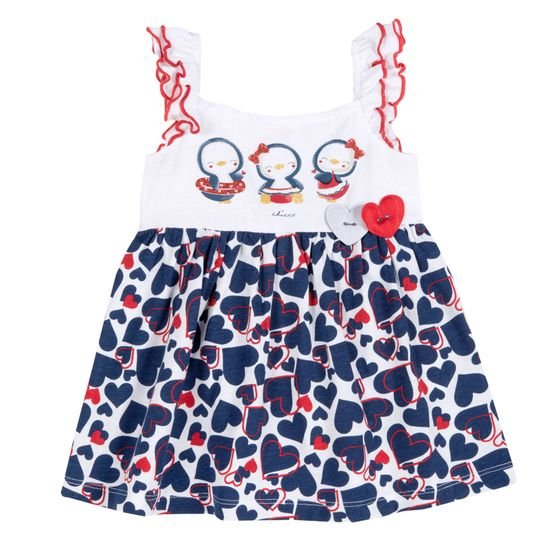 Платье Chicco Penguin friends, арт. 090.03808.038, цвет Синий