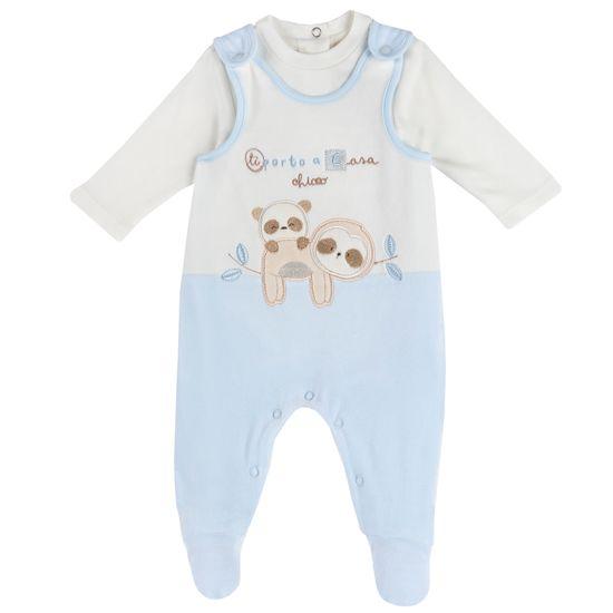Комплект Chicco Embrace Blue: боди и полукомбинезон, арт. 090.07407.021, цвет Голубой