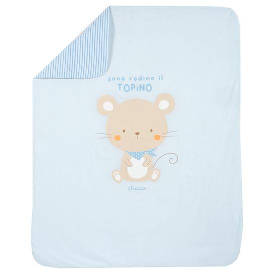 Плед Chicco Funny mouse, арт. 090.05171.021, цвет Голубой