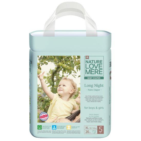 Подгузники-трусики Nature Love Mere Long Night, размер 5 (XL), 10-14 кг, 24 шт, арт. 8809402093243