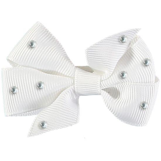 Заколка Angel`s Face Small Bow Diamante, арт. 201.DSBSSD.035, цвет Белый