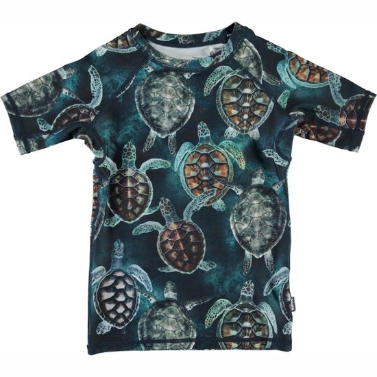 Футболка-рашгард для купания Molo Neptune Sea Turtles, арт. 8S21P205.6213, цвет Синий
