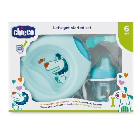 Набор посуды Chicco Meal Set, 6м+, арт. 16200, цвет Голубой