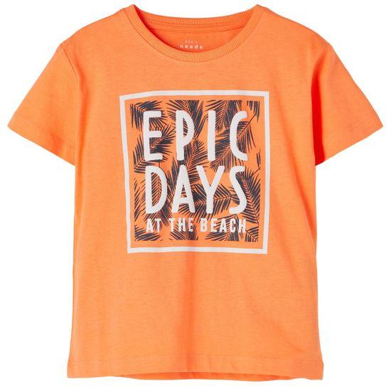 Футболка Name it Adventures orange, арт. 211.13189435.MELO, цвет Оранжевый