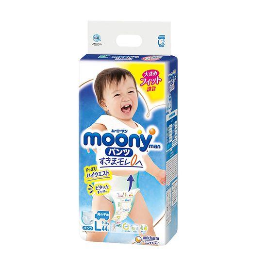 Подгузники-трусики Moony для мальчика, размер L, 9-14 кг, 44 шт, арт. 4903111206155