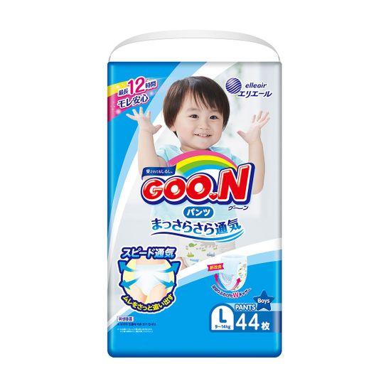 Подгузники-трусики Goo.N для мальчика, размер L, 9-14 кг, 44 шт, арт. 843097