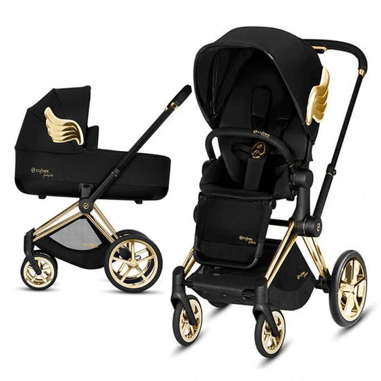 Коляска 2 в 1 Cybex Priam Lux  by Jeremy Scott Wings (Black), арт. k.519001979