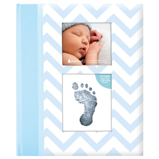 Подарочный дневник с фото и чернильным отпечатком (голубой), арт. P62201, цвет Голубой