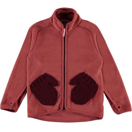 Кардиган флисовый Molo Ushi Maple, арт. 5W21L205.8334, цвет Бордовый