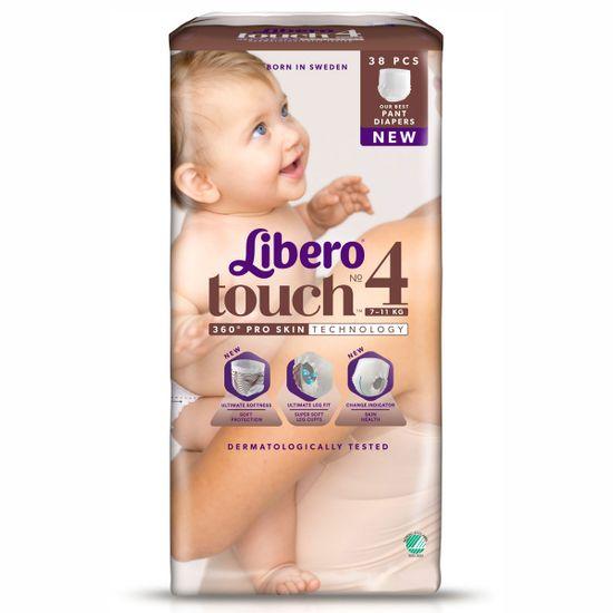 Подгузники-трусики Libero Touch, размер 4, 7-11 кг, 38 шт, арт. 6698-05