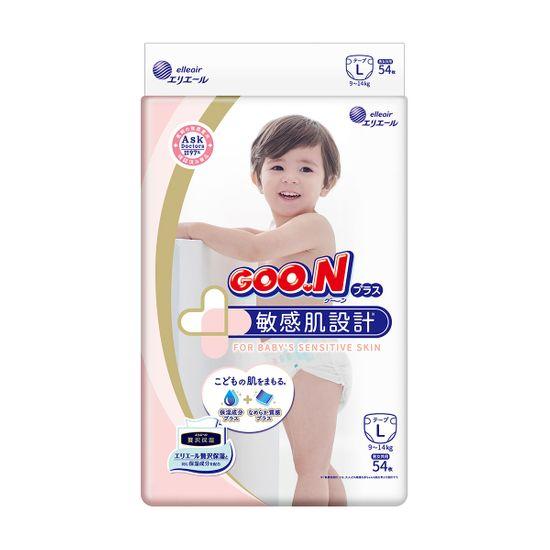 Подгузники Goo.N Plus, размер L, 9-14 кг, 54 шт, арт. 843336