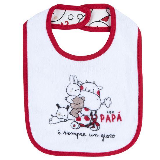 Слюнявчик Chicco Love dad, арт. 090.32789.037, цвет Красный